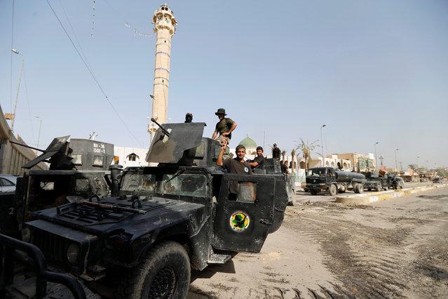 Iraqi counterterrorism forces are seen in Falluja, Iraq, June 26, 2016. (Photo by Thaier Al-Sudani/Reuters)