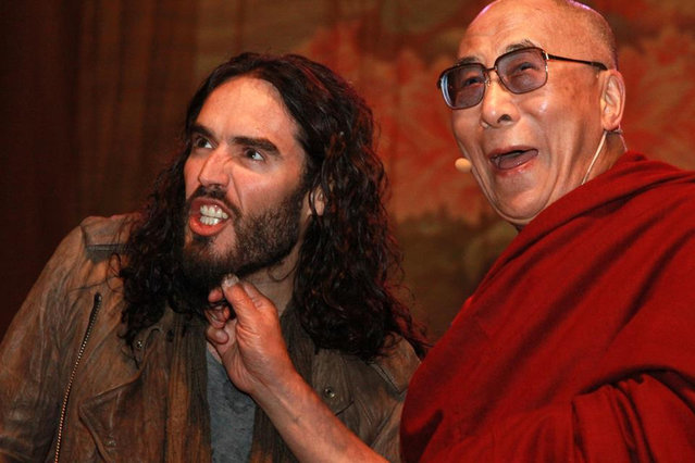 Russell Brand and Dalai Lama