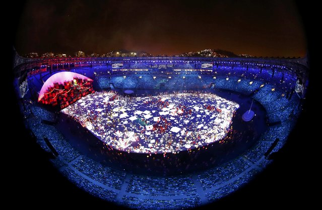 2016 Rio Olympics, Opening ceremony, Maracana, Rio de Janeiro, Brazil on August 5, 2016. A general view during the opening ceremony. (Photo by Fabrizio Bensch/Reuters)