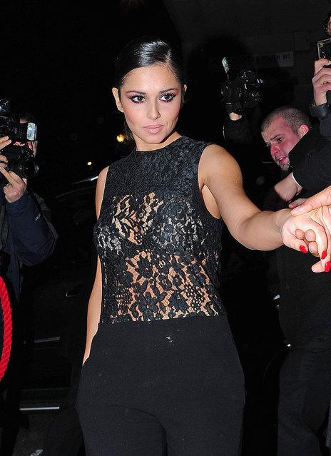 English recording artist Cheryl Cole in Rose Bar after attends the Capital FM Jingle Bell Ball at 02 Arena on December 9, 2012 in London, England. (Photo by UK Press)