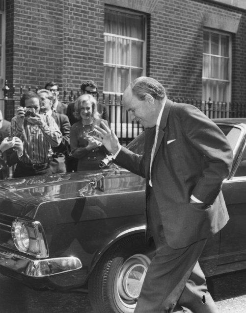 Iain Macleod (1913 - 1970) at No 10 Downing Street, London, 20th June 1970. A Scottish politician, Macleod was regarded as one of the most gifted members of post-war Conservative politics, and responsible for overseeing the independence of many British African territories. (Photo by Evening Standard/Getty Images)