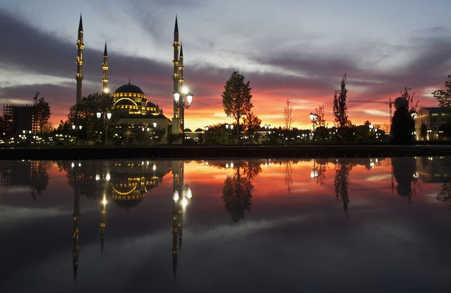 The Heart of Chechnya mosque is seen in the Chechen capital Grozny April 27, 2013. (Photo by Maxim Shemetov/Reuters)
