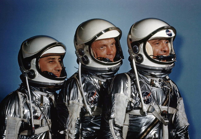 "This May 1961 file photo shows astronauts, from left, Virgil I. Grissom, John Glenn and Alan Shepard. On Friday, November 11, 2016, new exhibit called ""Heroes and Legends"" opened at the Kennedy Space Center in Florida. (Photo by AP Photo)"
