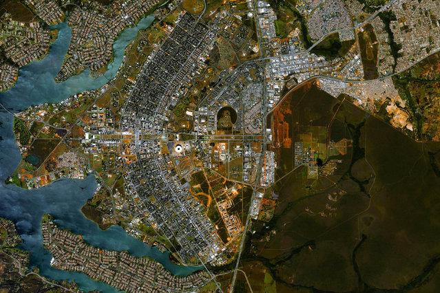 Brasilia City, Brazil. (Photo by Benjamin Grant/Digital Globe/Caters News)