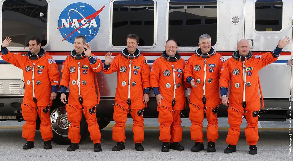 Endeavour Astronauts Take Part In Terminal Countdown Termination Test