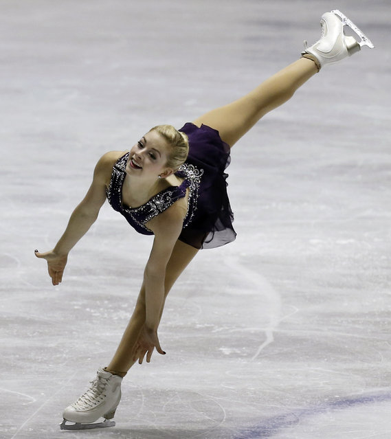 Gracie Gold of the United States performs during the women's free skate at the World Team Trophy Figure Skating Championships in Tokyo, Saturday, April 18, 2015. (Photo by Koji Sasahara/AP Photo)