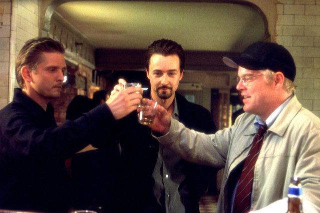 """25th Hour"", Barry Pepper, Edward Norton, Philip Seymour Hoffman, 2002. (Photo by Walt Disney/Everett Collection)"