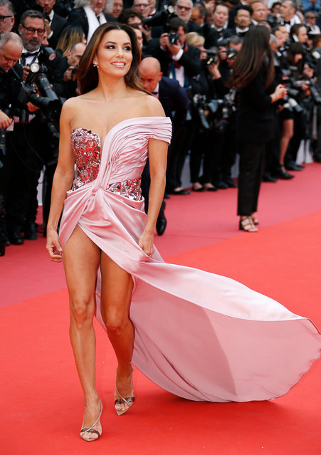 US actress and model Eva Longoria arrives for the screening of the film The Dead Don't Die and the Opening Ceremony at the 72nd annual Cannes Film Festival in Cannes, France on May 14, 2019. (Photo by Jean-Paul Pelissier/Reuters)