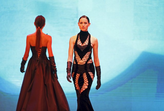 Models present creations by designer Eymeric Francois of France at the Malta Fashion Awards 2015 at the Marsa Shipbuilding warehouse in Marsa, outside Valletta in Malta, May 16, 2015. (Photo by Darrin Zammit Lupi/Reuters)