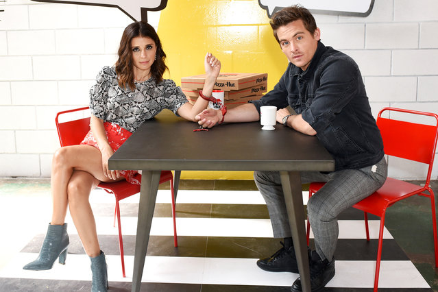 "(L-R) Shiri Appleby and Kevin Zegers of ""What Just Happened??! with Fred Savage"" attend the Pizza Hut Lounge at 2019 Comic-Con International: San Diego on July 19, 2019 in San Diego, California. (Photo by Presley Ann/Getty Images for Pizza Hut)"