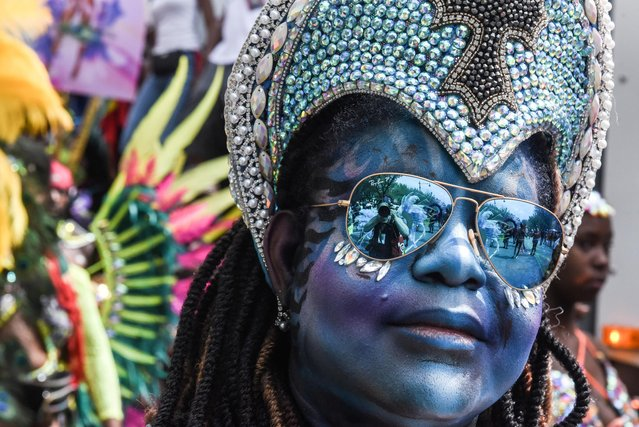 A woman participates in the annual West Indies Day parade in the borough of Brooklyn in New York City, N.Y., U.S., September 2, 2019. (Photo by Stephanie Keith/Reuters)