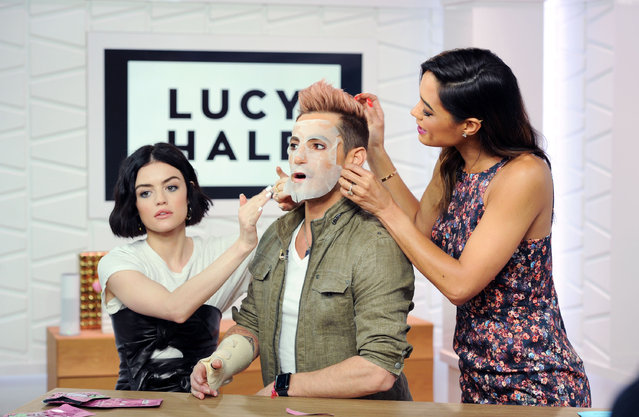 Lucy Hale, Frankie Grande and Rachel Smith appear on Amazon's Style Code Live on April 20, 2017 in New York City. (Photo by Craig Barritt/Getty Images for Amazon's Style Code Live)