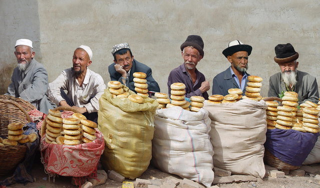 """The Usual Suspects – Kashgar"". (Photo by Michael Sheridan)"
