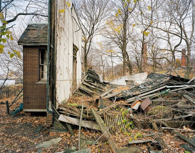 Church side, North Brother Island, New York. (Photo by Christopher Payne)