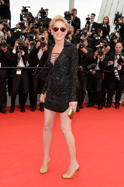 """Sharon Stone attends """"The Search"""" premiere during the 67th Annual Cannes Film Festival on May 21, 2014 in Cannes, France. (Photo by Pascal Le Segretain/Getty Images)"""
