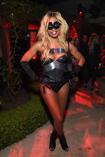 Laverne Cox attends the 2019 Casamigos Halloween Party on October 25, 2019 at a private residence in Beverly Hills, California. (Photo by Michael Kovac/Getty Images for Casamigos)
