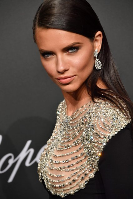 "Adriana Lima attends the Chopard ""SPACE Party"", hosted by Chopard's co-president Caroline Scheufele and Rihanna, at Port Canto on May 19, 2017, in Cannes, France. (Photo by Gisela Schober/WireImage)"
