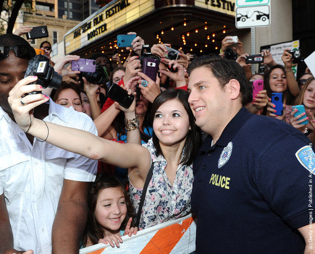 Actor Jonah Hill arrives at the World Premiere of  '21 Jump Street' during the 2012 SXSW Music, Film + Interactive Festival