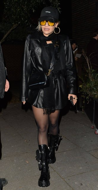 Rita Ora attends Vas J. Morgans birthday party at Laylow club in London, England on December 3, 2019. (Photo by Palace Lee/Rex Features/Shutterstock)