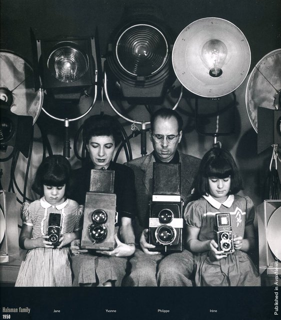 The Halsman family. Left to right: Jane, Yvonne, Philippe and IrГЁne. USA, 1950. (Photo by Philippe Halsman)