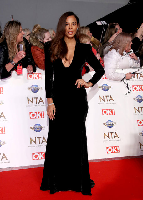 Rochelle Humes attends the National Television Awards 2020 at The O2 Arena on January 28, 2020 in London, England. (Photo by Mike Marsland/WireImage)