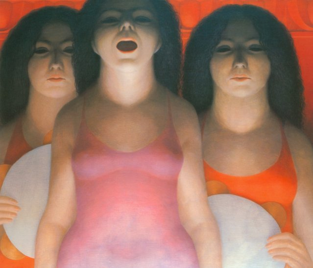 Entertainers. Artwork by George Tooker