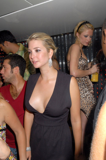 """Ivanka Trump and Paris Hilton during Paris Hilton Presents Her Single """"Stars are Blind"""" at the VIP Room – July 28, 2006 at VIP Room in Saint Tropez, France. (Photo by Foc Kan/WireImage)"""