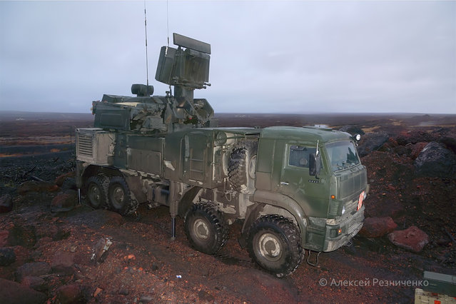 Test of the surface-to-air missile Pantsir-S rocket and gun system