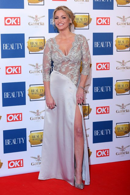 Sarah Harding attends The Beauty Awards at Tower of London on November 28, 2017 in London, England. (Photo by David Fisher/Rex Features/Shutterstock)