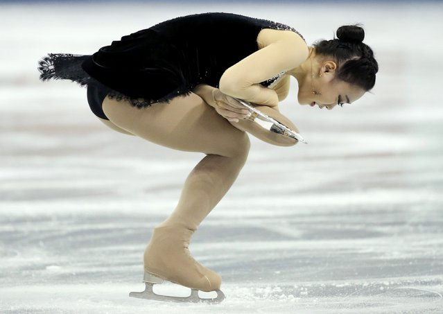 So Youn Park of South Korea performs during the ladies' singles short program at the Skate America figure skating competition in Milwaukee, Wisconsin October 23, 2015. (Photo by Lucy Nicholson/Reuters)