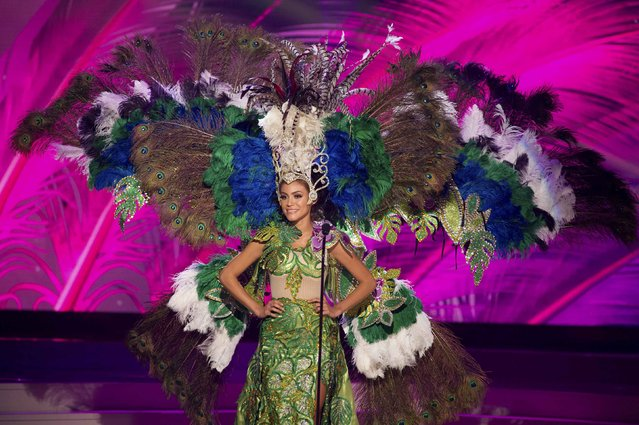 Sally Jara, Miss Paraguay 2014, debuts her national costume during the Miss Universe Preliminary Show in Miami, Florida in this January 21, 2015 handout photo. (Photo by Reuters/Miss Universe Organization)