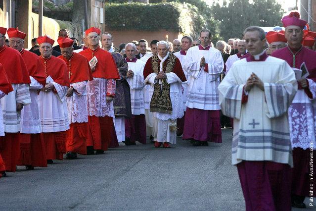 Pope Celebrates Ash Wednesday At The Santa Sabina Basilica