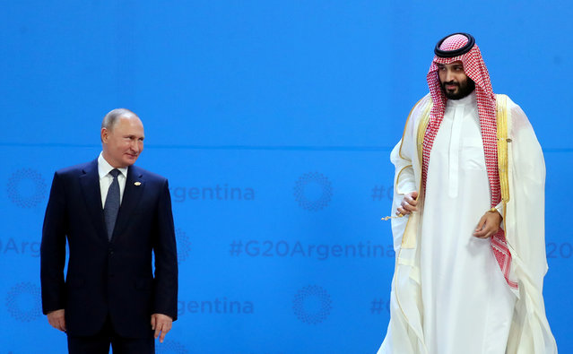 Russia's President Vladimir Putin and Saudi Arabia's Crown Prince Mohammed bin Salman are seen during the G20 summit in Buenos Aires, Argentina November 30, 2018. (Photo by Marcos Brindicci/Reuters)