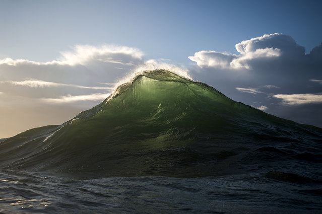 "Collins feels as though he's taking a portrait of a living thing at times. He says the ""wave mountains"" are almost nature imitating nature. (Photo by Ray Collins)"