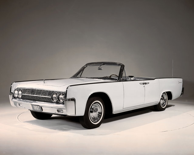 This undated photo provided by the Ford Motor Co. shows the 1962 Lincoln Continental convertible. (Photo by AP Photo/Ford Motor Co.)