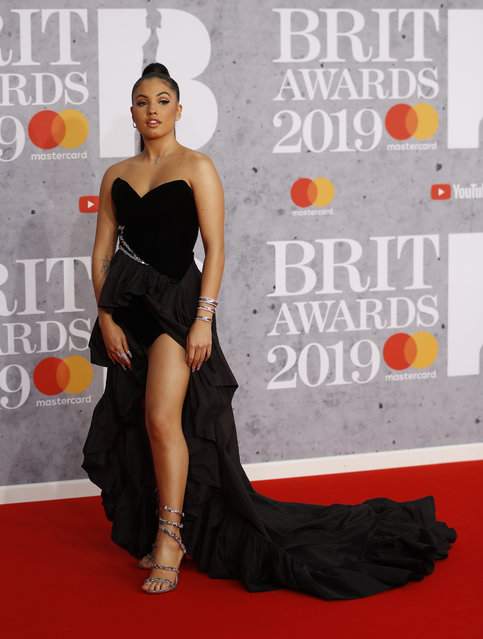 Mabel arrives for the Brit Awards at the O2 Arena in London, Britain, February 20, 2019. (Photo by Peter Nicholls/Reuters)