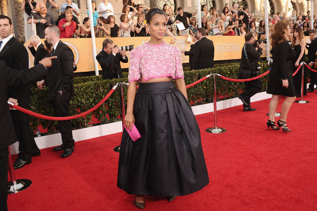 Actress Kerry Washington attends 20th Annual Screen Actors Guild Awards at The Shrine Auditorium on January 18, 2014 in Hollywood, California. (Photo by Stefanie Keenan/WireImage)