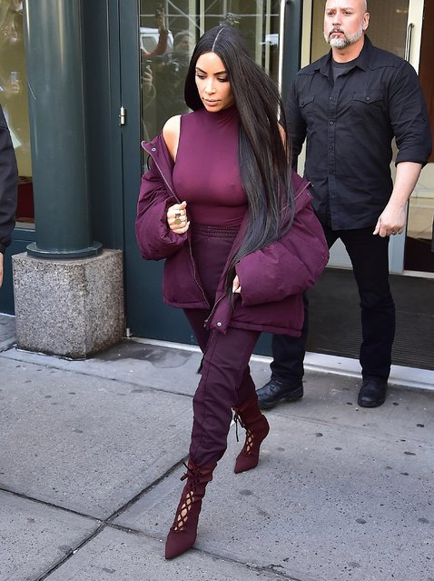 Kim Kardashian is seen on February 15, 2017 in New York City. (Photo by Team GT/GC Images)