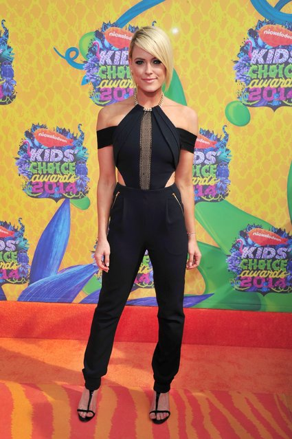 Dancer Peta Murgatroyd attends Nickelodeon's 27th Annual Kids' Choice Awards held at USC Galen Center on March 29, 2014 in Los Angeles, California. (Photo by Frazer Harrison/Getty Images)