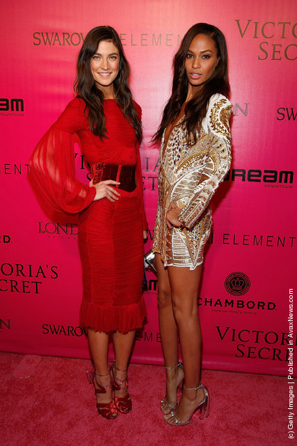 (L-R) Models Jacquelyn Jablonski and Joan Smalls attend the 2011 Victoria's Secret Fashion Show After Party