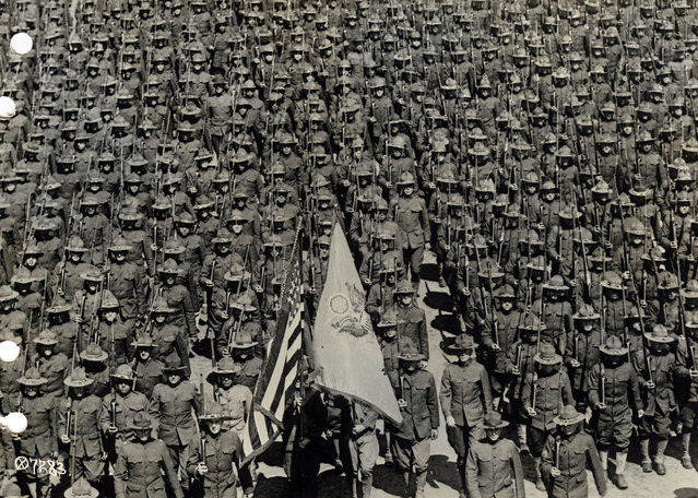 U.S. soldiers of the 82nd Division stand in formation at Camp Gordon, Georgia in 1917 for service overseas. The division would later become the legendary 82nd Airborne Division. (Photo by Reuters/Courtesy U.S. Army)