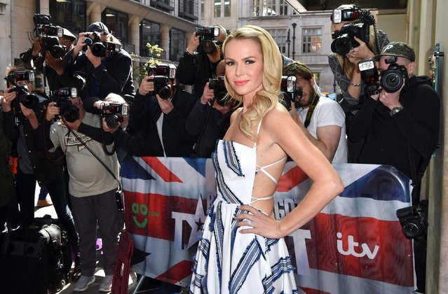 Amanda Holden attends the red carpet arrivals for the new series of Britain's Got Talent at the Mayfair Hotel on April 12, 2017 in London, United Kingdom. (Photo by PA Wire)