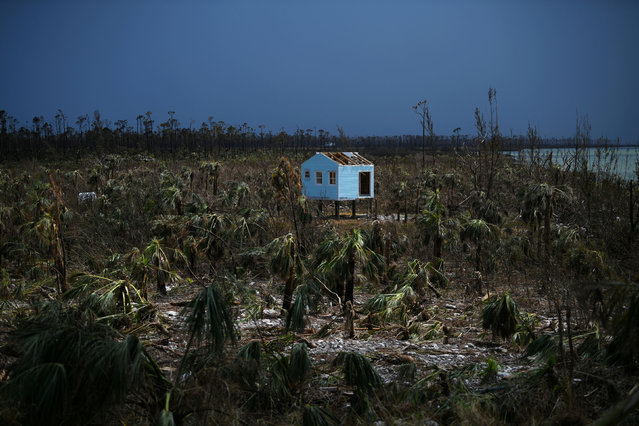 A destroyed house is seen in the wake of Hurricane Dorian in Marsh Harbour, Great Abaco, Bahamas, September 8, 2019. (Photo by Loren Elliott/Reuters)