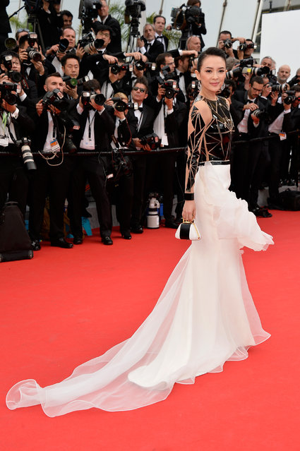 """Actress Zhang Ziyi attends the Opening ceremony and the """"Grace of Monaco"""" Premiere during the 67th Annual Cannes Film Festival on May 14, 2014 in Cannes, France. (Photo by Pascal Le Segretain/Getty Images)"""