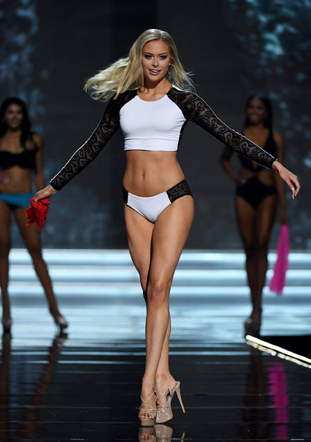 Miss Minnesota USA 2017 Meridith Gould competes in the swimsuit competition during the 2017 Miss USA pageant at the Mandalay Bay Events Center on May 14, 2017 in Las Vegas, Nevada. She went on to be named the second runner-up. (Photo by Ethan Miller/Getty Images)