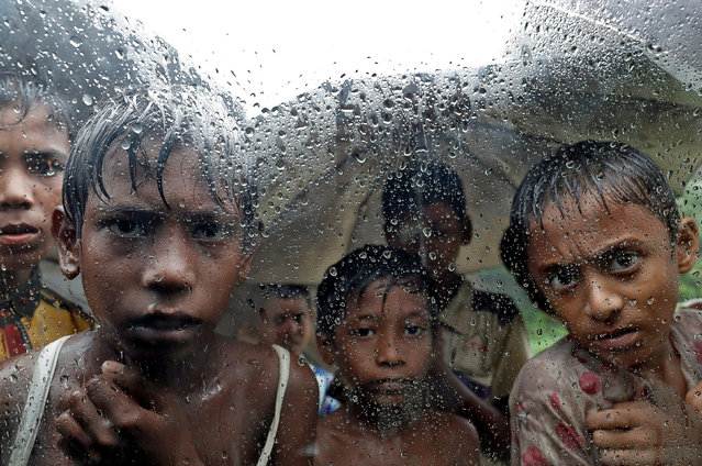 Rohingya refugee children pictured in a camp in Cox's Bazar, Bangladesh, September 19, 2017. (Photo by Cathal McNaughton/Reuters)