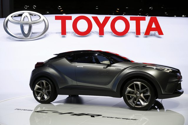 A Toyota C-HR concept car is pictured during the media day at the Frankfurt Motor Show (IAA) in Frankfurt, Germany, September 15, 2015. (Photo by Kai Pfaffenbach/Reuters)