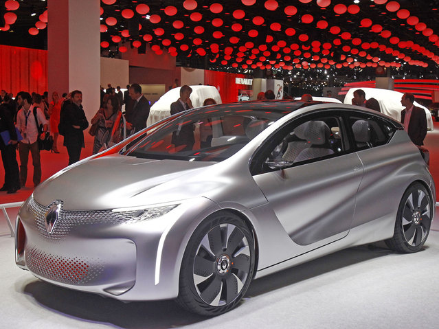 An Eolab concpet car made by Renault, is presented at the Paris Motor Show, in Paris, Thursday October 2, 2014. (Photo by Remy de la Mauviniere/AP Photo)