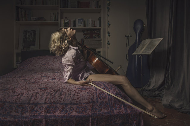 """This scene shows """"Pauline"""" rediscovering her passion for music. (Photo by Laura Stevens)"""