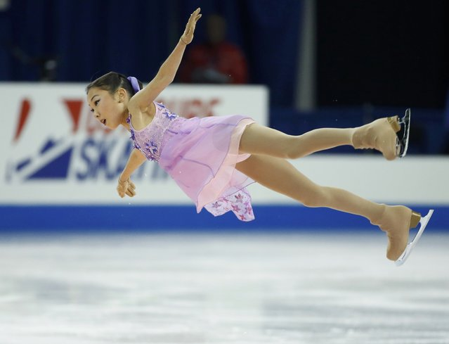 Elizabet Tursynbaeva of Kazakhstan performs during the ladies' singles short program at the Skate America figure skating competition in Milwaukee, Wisconsin October 23, 2015. (Photo by Lucy Nicholson/Reuters)